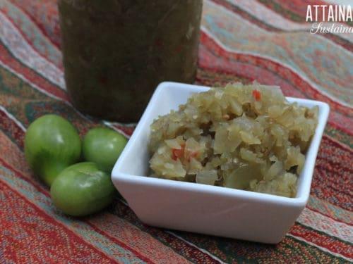 Green Tomato Chow Chow Recipe