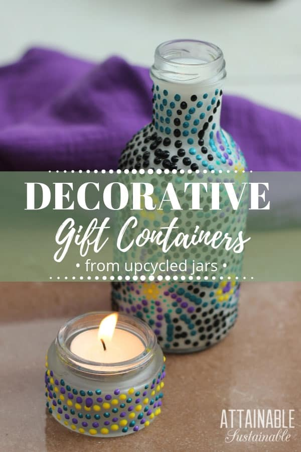 DIY candle holders and decorated bottle