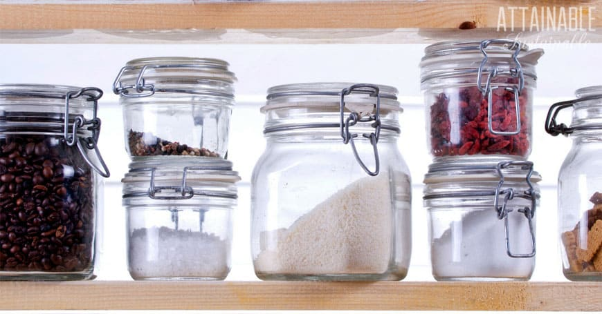 jars in an organized kitchen