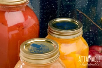 canning jars full of preserved food