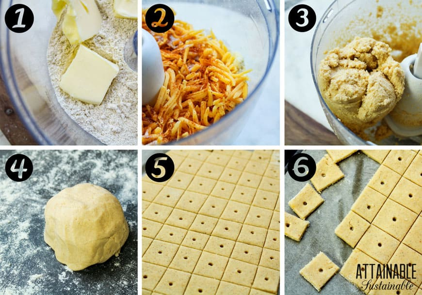 making cheese cracker recipe