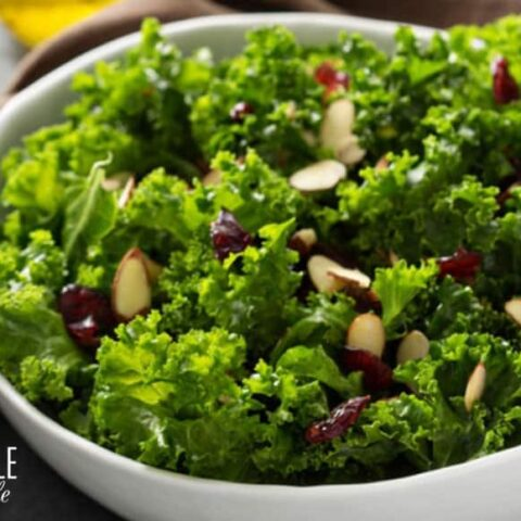 Massaged Kale Salad with Cranberries
