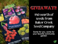 WIN Baker Creek Heirloom Seeds – $50 Value
