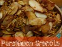 Persimmon Granola is an Autumn Treat