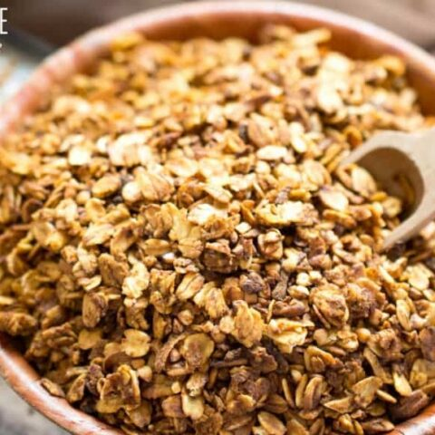 Healthy Homemade Granola with Persimmons and Maple Syrup