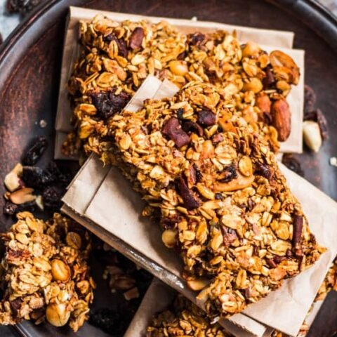 homemade granola bars from above
