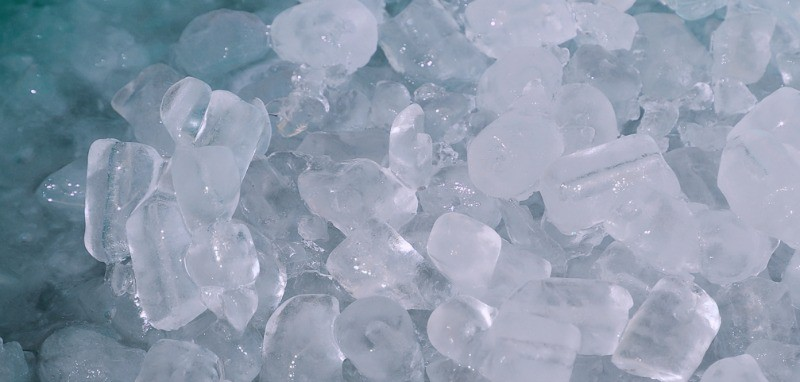 close up image of ice