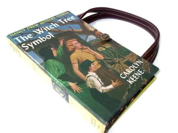 Nancy Drew book turned into a purse for upcycled gifts