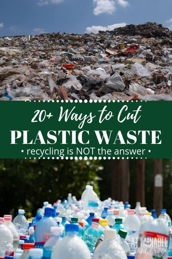 plastic waste piled up