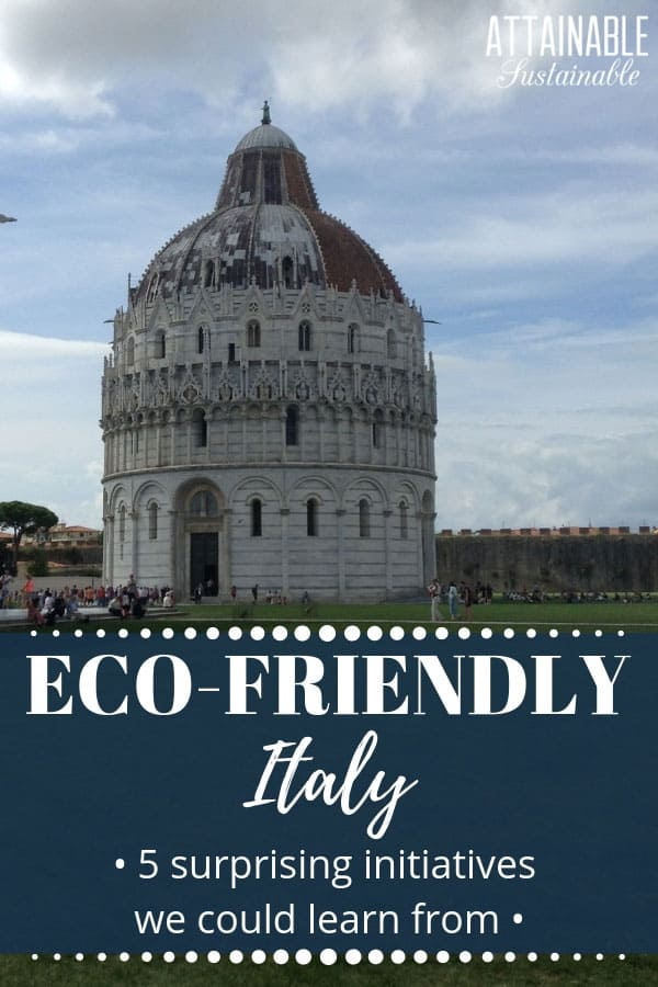 It's an education to be able to see how living in Italy differs from our American world view.  Visiting Italy gave my family the chance to see first hand how Italy is winning the green game. From public transportation to energy-saving habits, the Italians have a much smarter long game.  #travel #Italy #green