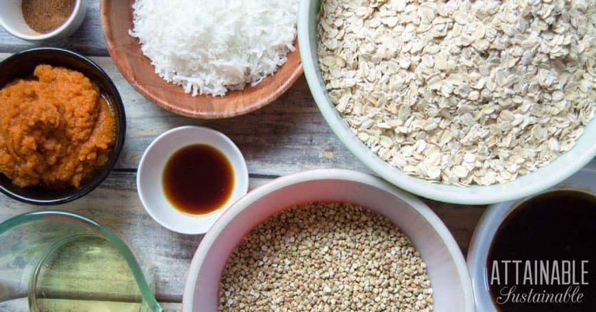 healthy granola recipe ingredients