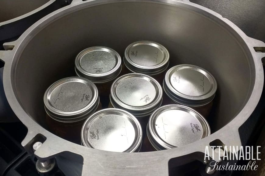7 jars in a pressure canner