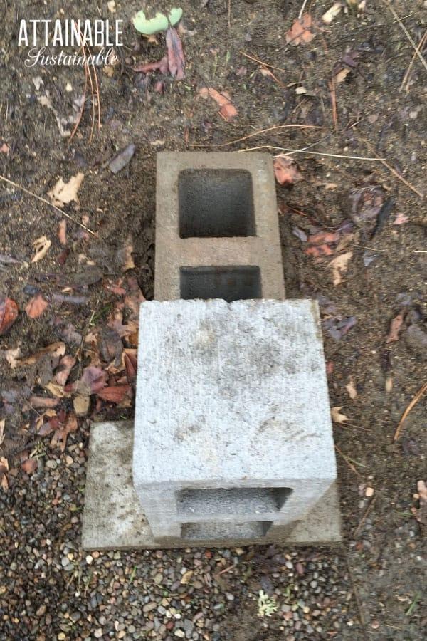 building a concrete block rocket stove