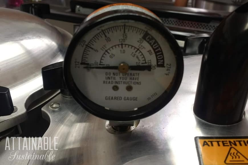 pressure gauge on canner