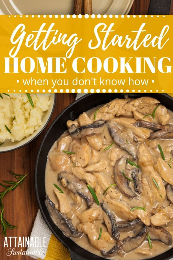 Home cooking allows us to put healthy, whole food on the table. But what if you don't know the first thing about home cooking? Novice chefs can tackle home cooking with some of these ideas. And if you're GOOD at home cooking? Here's how you can help others embrace it! #cooking #realfood
