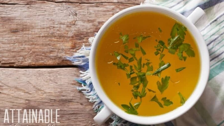 Making chicken stock (bone broth) at home is easy.