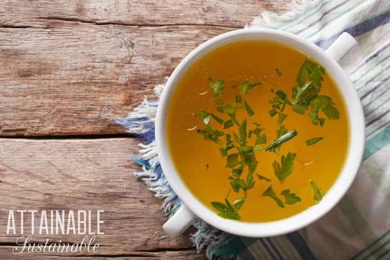 This low sodium chicken broth recipe is an excellent way to get the most out of a roasted chicken. Plus, it's good for you!