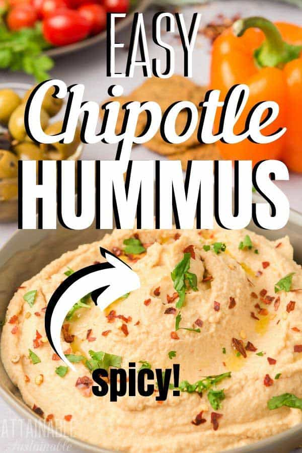 easy chipotle hummus