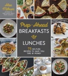 book cover: prep ahead breakfasts and lunches