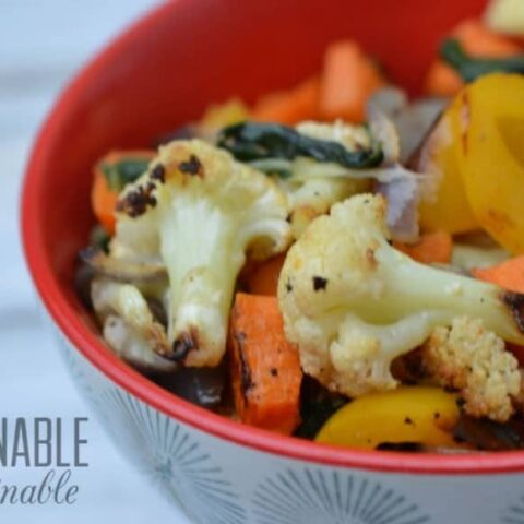 Easy Roasted Vegetables with Kale