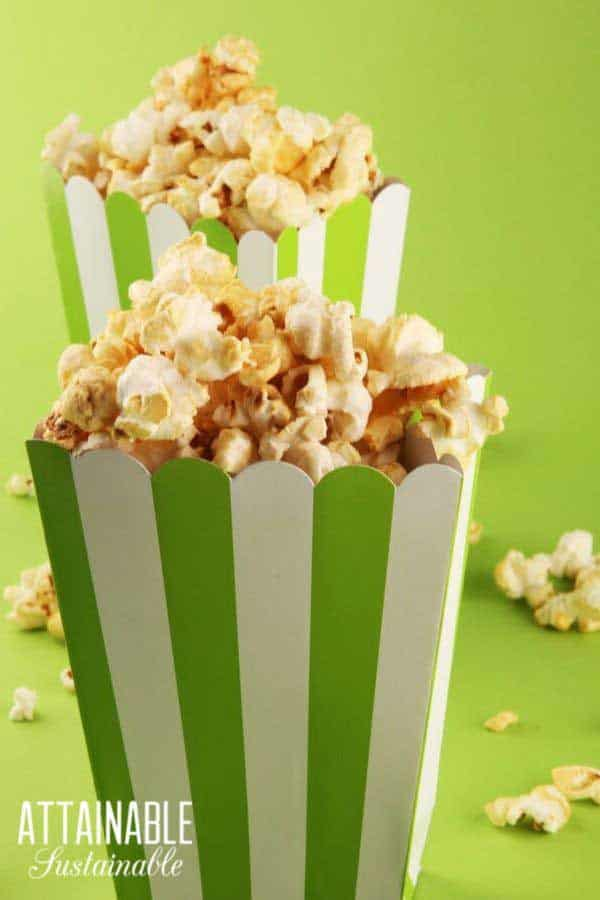 popcorn movie night! give experiences instead of gifts