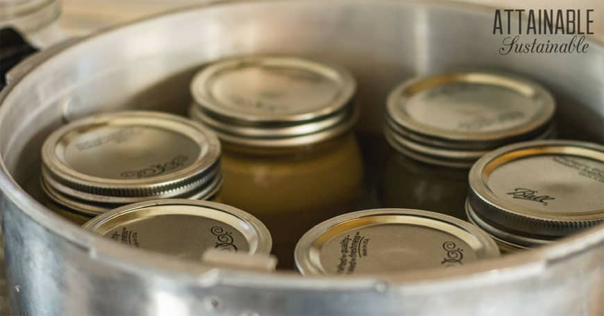 canning jars in pressure canner
