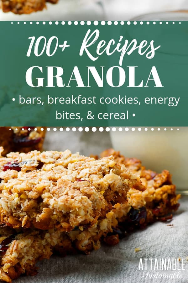 Healthy homemade granola bars are a great snack for busy days when families are on the go (hey, Little League season!) or for taking along on longer excursions. This collection of healthy homemade granola bars offers options for gluten-free, paleo, and raw diets as well as recipes for breakfast cookies. #breakfast #recipe #snack