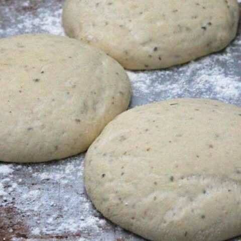 dough balls rising
