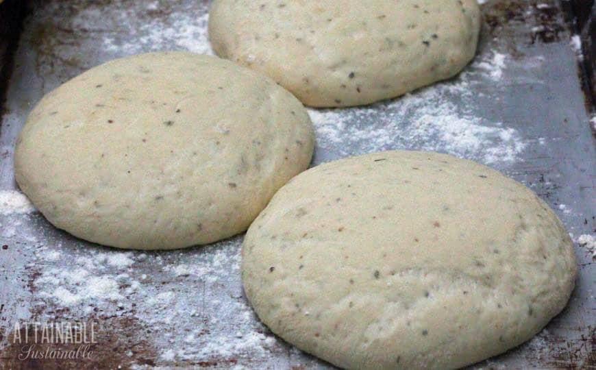 pizza dough rising