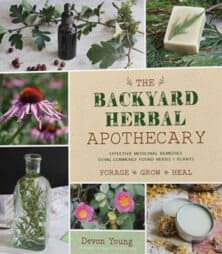 Book cover, backyard herbal apothecary