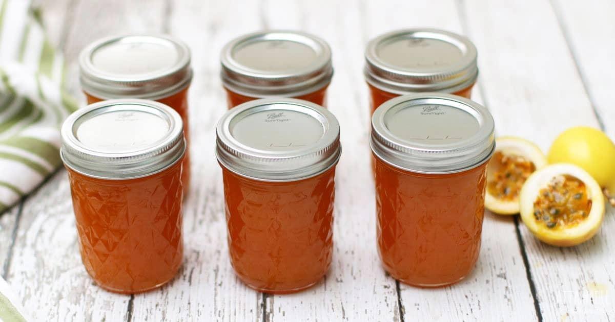 6 jars of lilikoi jelly