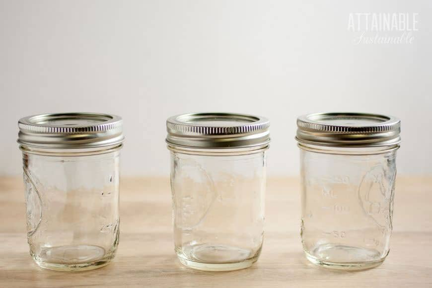 empty mason jars with metal lids (3)