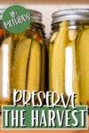 pickles in glass jars