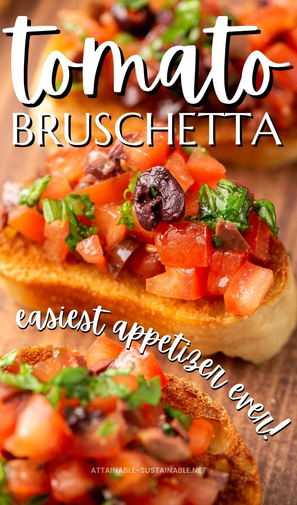 tomato bruschetta on toasts