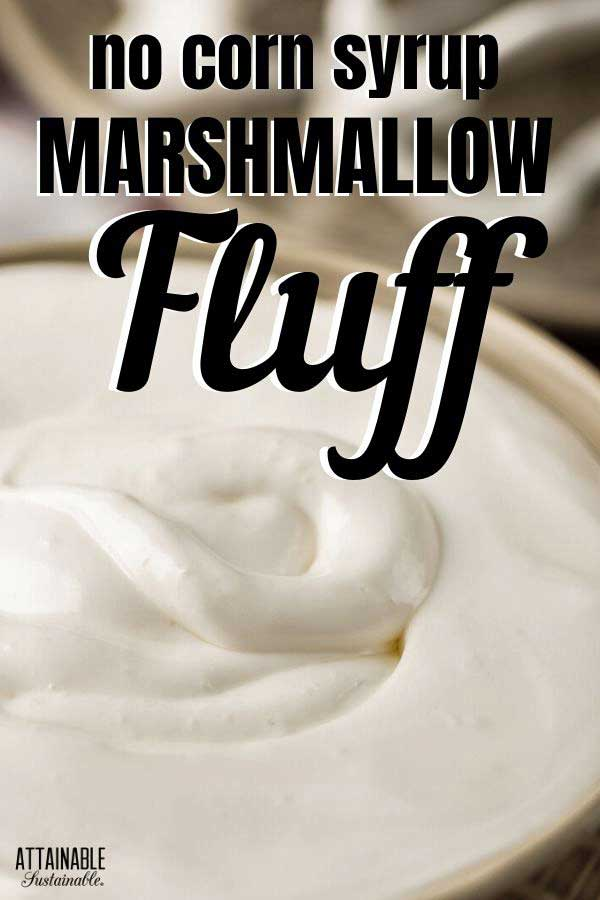 homemade marshmallow cream in a bowl
