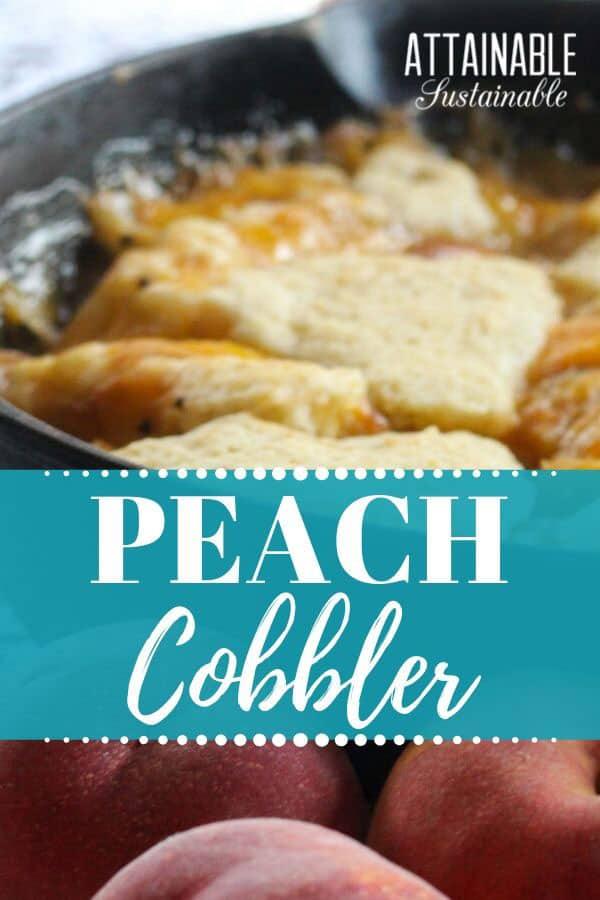 cobbler in a cast iron pan