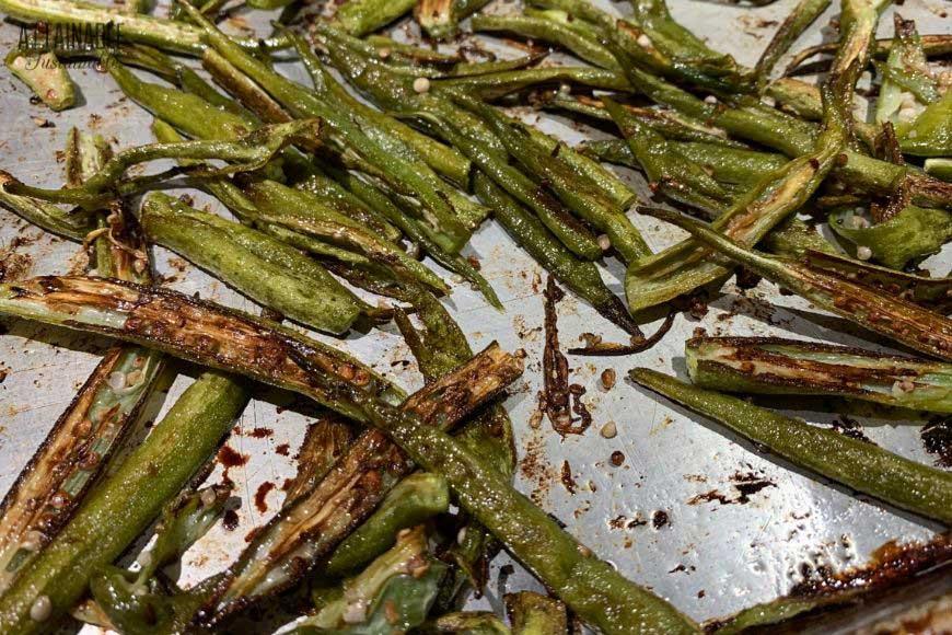 crispy roasted okra