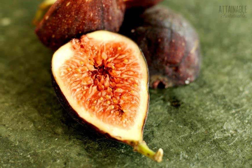 sliced fig fruit