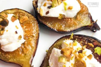 roasted figs with goat cheese and nuts