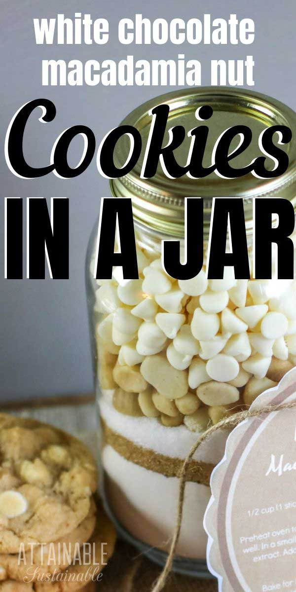 ingredients for cookies in a jar
