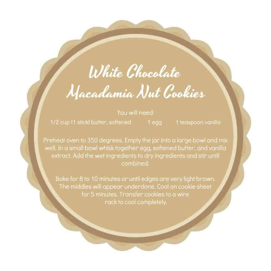 printable tag for white chocolate macadamia nut cookies