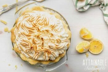 lemon meringue pie from above