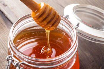 honey dipper and jar