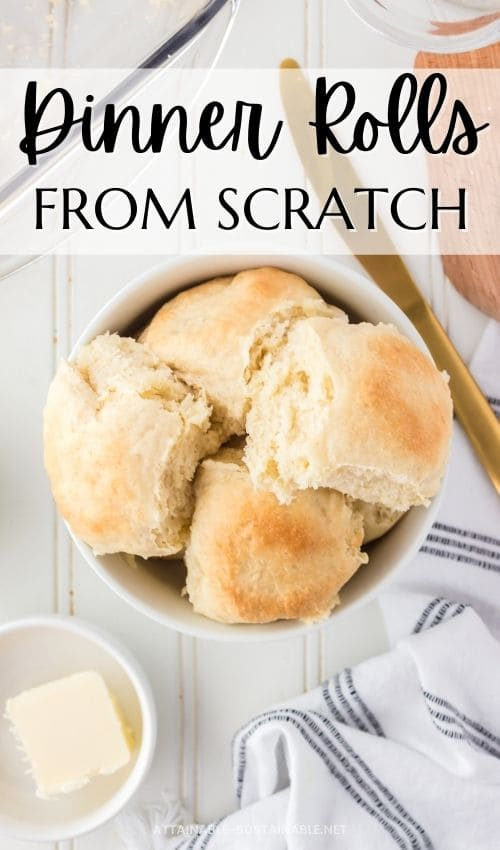 dinner rolls served in a white bowl