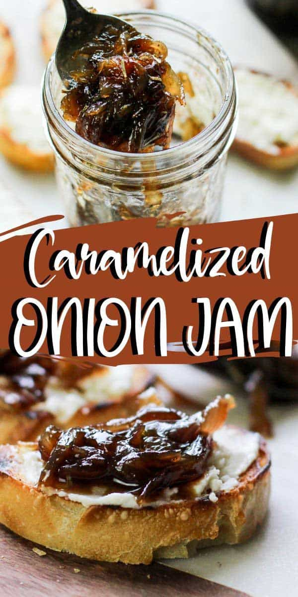 spoon full of onion jam, and some on bread