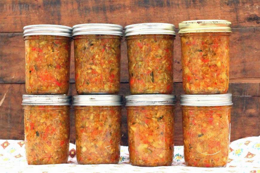 jars of relish