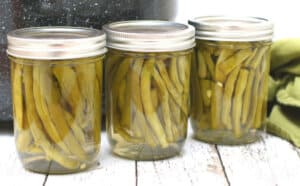 3 jars of pickled green beans