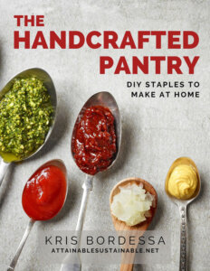 The Handcrafted Pantry, ebook cover with spoons full of condiments