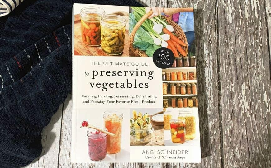 book cover: Preserving vegetables