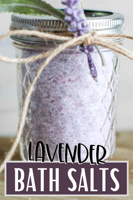 lavender bath salts tied with twine